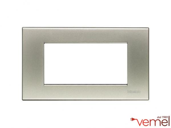 Placca 4 moduli titanio chiaro vemelstore for Bpt ta 600