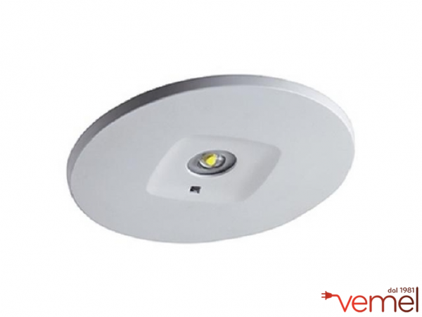 Plafoniera Led Con Emergenza : Ideallux inxp n em innova xp stagna led emergenza w lm k
